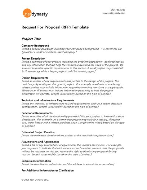request for proposal template choice image templates