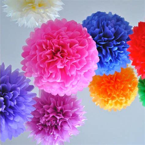 Japanese Paper Flower - wedding tissue paper pom poms flower balls pom poms