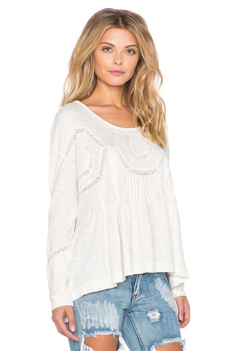 Babydoll Top lyst free new babydoll top in white