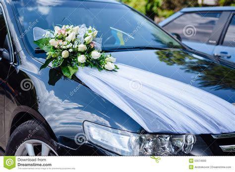 Wedding Car Decor Flowers Bouquet. Car Decoration Royalty