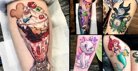 beautiful disney tattoos by tattoo artist jordan baker