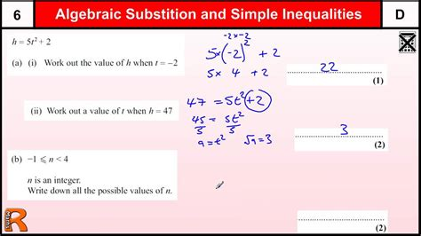 substitution and inequalities gcse maths higher foundation revision paper practice help