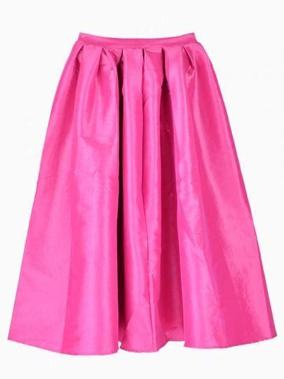 flare pleated midi skirt shein sheinside