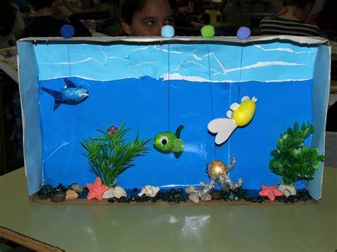 como hacer una pesera de carton muy bonita te cuento diorama mi acuario