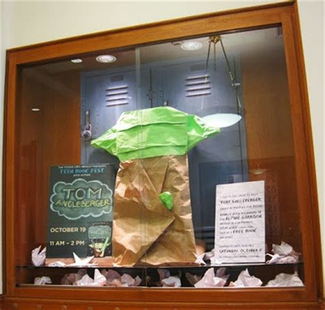 funtime origami yoda provo library children s book reviews display tom