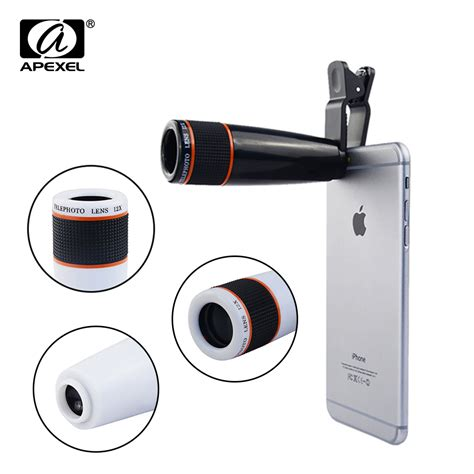mobile lens aliexpress buy phone lens universal clip 12x