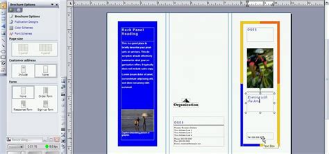 how to create a brochure in microsoft publisher