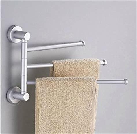 Towel Racks For Bathroom by Towel Holder 3 Swivel Bars Aluminium Bath Rack