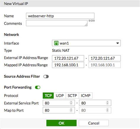 forwarding ip address using ips to configure forwarding fortinet