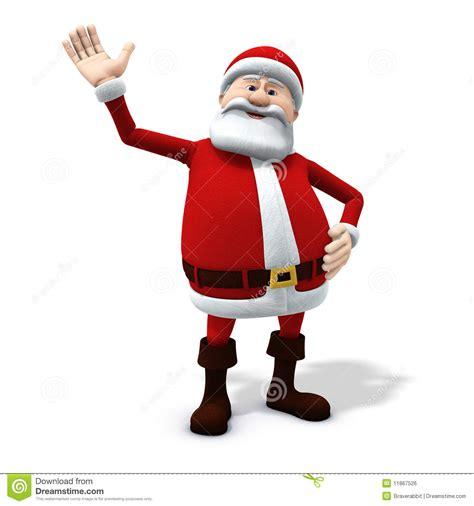 anmated waving snata santa waving royalty free stock image image 11867526