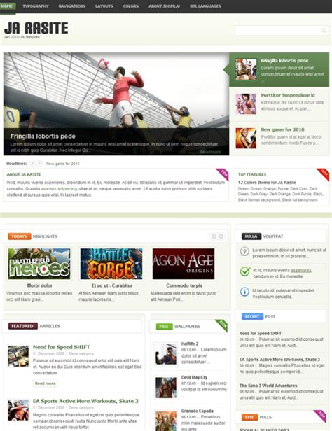 ja rasite welcome 2010 fresh joomla design joomla
