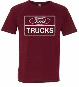 Ford Shirts Ford Shirt Distressed Ford Trucks Mens Tri Blend T
