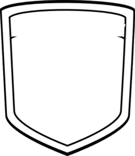 shield patch template blank shield soccer clip vector clip