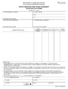 nafta certificate template 2011 form cbp 434 fill printable fillable blank