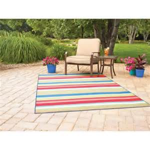 mainstays indoor outdoor rug multi stripe sizes - Patio Rugs At Walmart