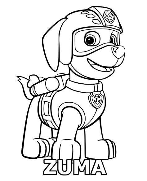 paw patrol spring coloring pages zuma coloring page sheet