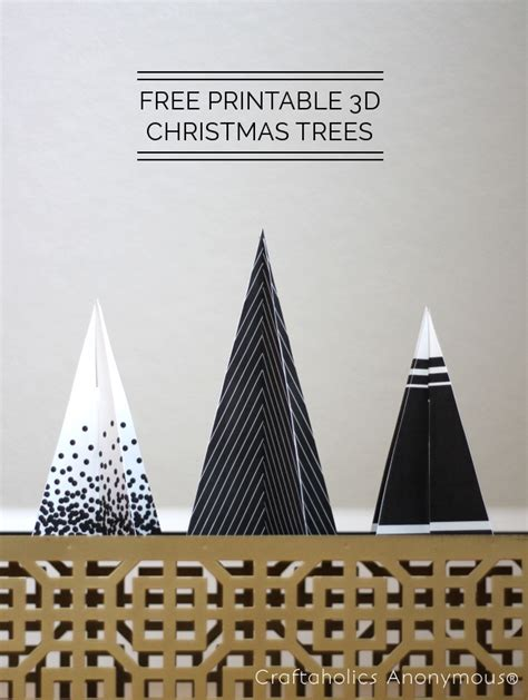 craftaholics anonymous 174 free printable 3d christmas trees