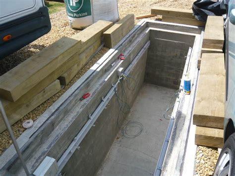 garage pit design inspection pit build