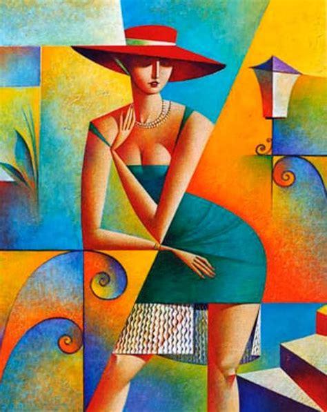 imagenes mujeres art deco cuadros modernos pinturas y dibujos cubismo pinturas
