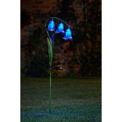 Solar Powered Bluebell Stake Light 2 Pack Smart Garden Solar Light Stake