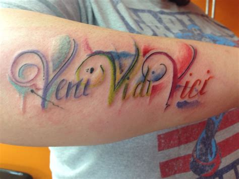 i came i saw i conquered tattoo veni vidi vici well said by julius caesar when he wrote