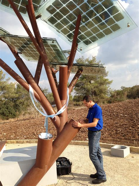 solar powered trees israel s solar powered trees for smartphones and