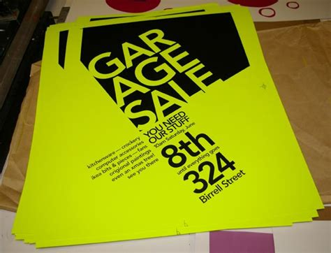 Creative Garage Sale Signs by Garage Sale Poster Creative Design And Catchy Color