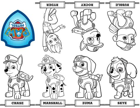 printable images of paw patrol free printable mini paw patrol coloring book from a single