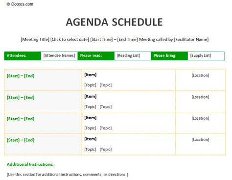 meeting schedule template search results for agenda meeting printable schedule