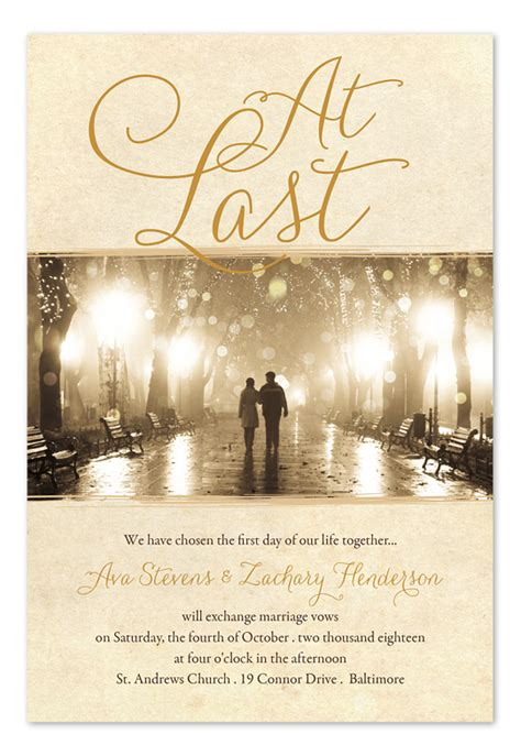 Wedding Last by At Last Wedding Invitations By Invitation Consultants