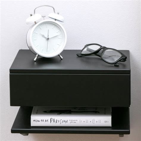 floating bedside table with drawer and shelf by urbansize floating bedside table with drawer and shelf by urbansize