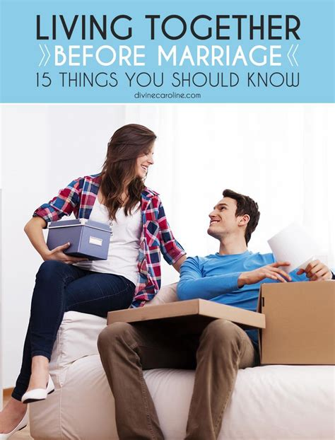 Things You Should Talk About Before Marriage by Living Together Before Marriage 15 Things You Should