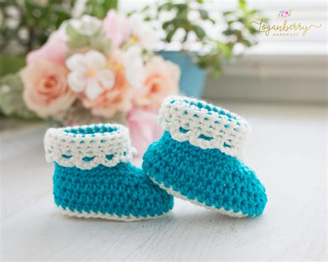 crochet tutorial lace trim baby booties free crochet pattern 187 loganberry
