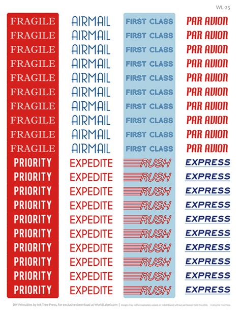 printable airmail stickers fragile labels worldlabel blog