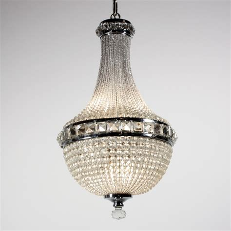 Remarkable Antique Four Light Crystal Basket Chandelier C Basket Chandelier