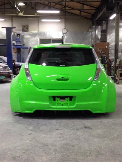 stanced nissan leaf japanese explain bosozoku leaf with lambo doors and