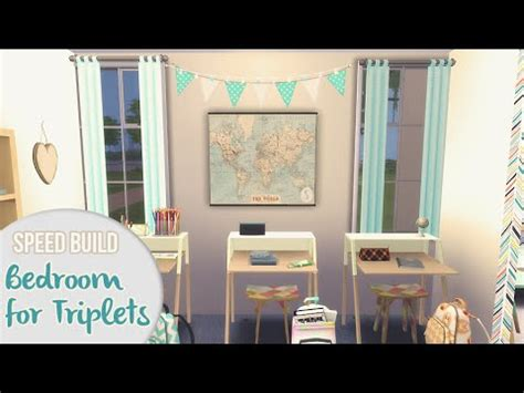 bedroom  triplets  sims  speed build youtube