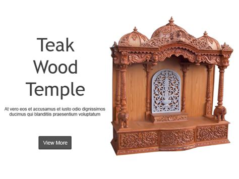simple wooden temple designs for home home design and style