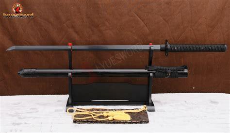 Pedang Samurai Pedang Katana Black tang japanese samurai sword katana black folded steel battle ready blade damascus