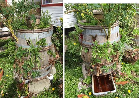 Vertical Barrel Garden Vertical Gardening For Small Spaces 303
