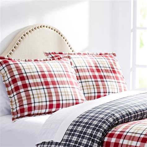 Plaid Comforter by City Bran Plaid White Comforter And Duvet Set