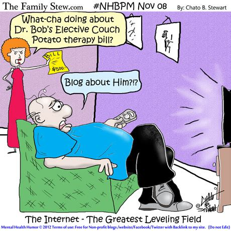 couch potato jokes elective couch potato therapy nhbpm mental health humor
