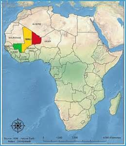 where is mali on the world map mali map travelsfinders