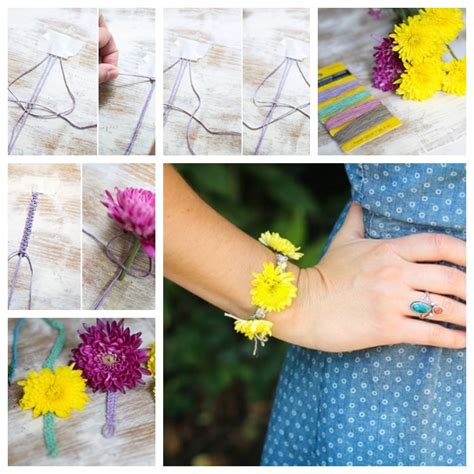 how to make flower bracelets with wonderful diy summer fresh flowers bracelet