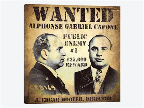1920s wanted poster template al capone wanted poster canvas print by vintage apple