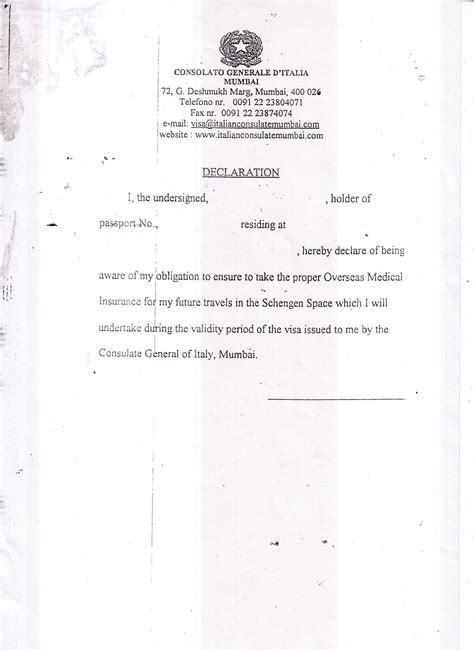 Indian Embassy Letterhead Travels