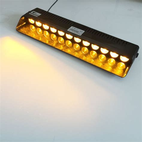 amber vehicle warning lights 12 led emergency warning traffic advisor vehicle strobe