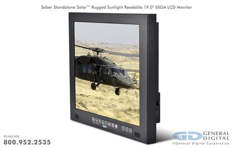 rugged monitor saber standard rugged industrial monitors general digital