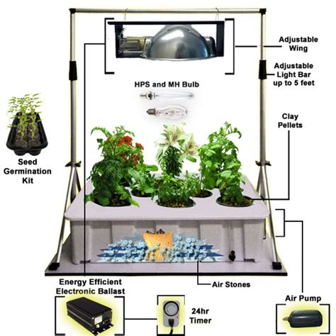 Hydroponic Garden Kit hydroponics kit new gardening concepts from