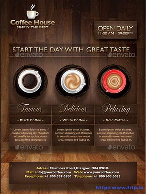 55 Best Coffee Shop Flyer Print Templates 2016 Frip In Coffee Shop Template